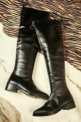 Bambi Siyah Kadın Çizme K05038100