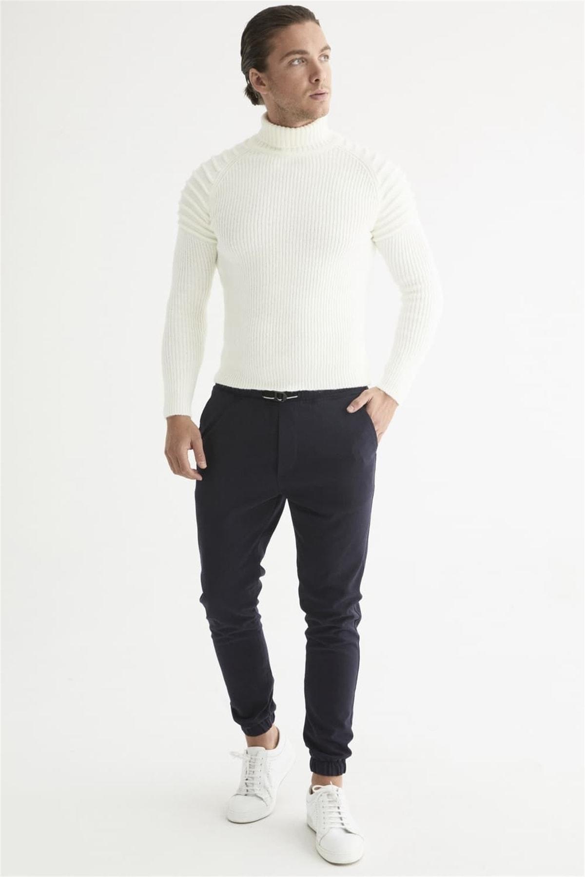 Efor Atp 017 Slim Fit Lacivert Spor Pantolon 1