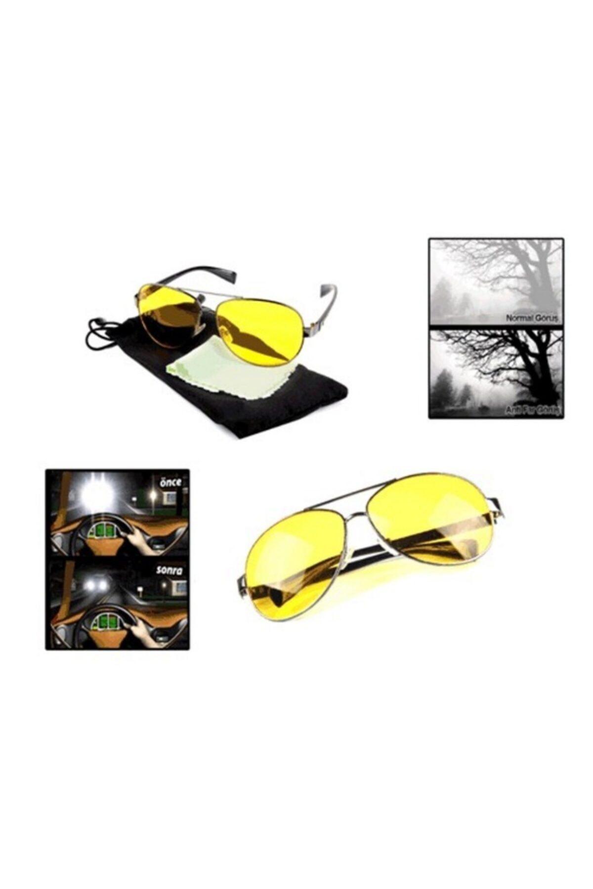 vebura Metal Çerçeveli Anti Far Gece Görüş Gözlüğü (Damla Modeli) 1