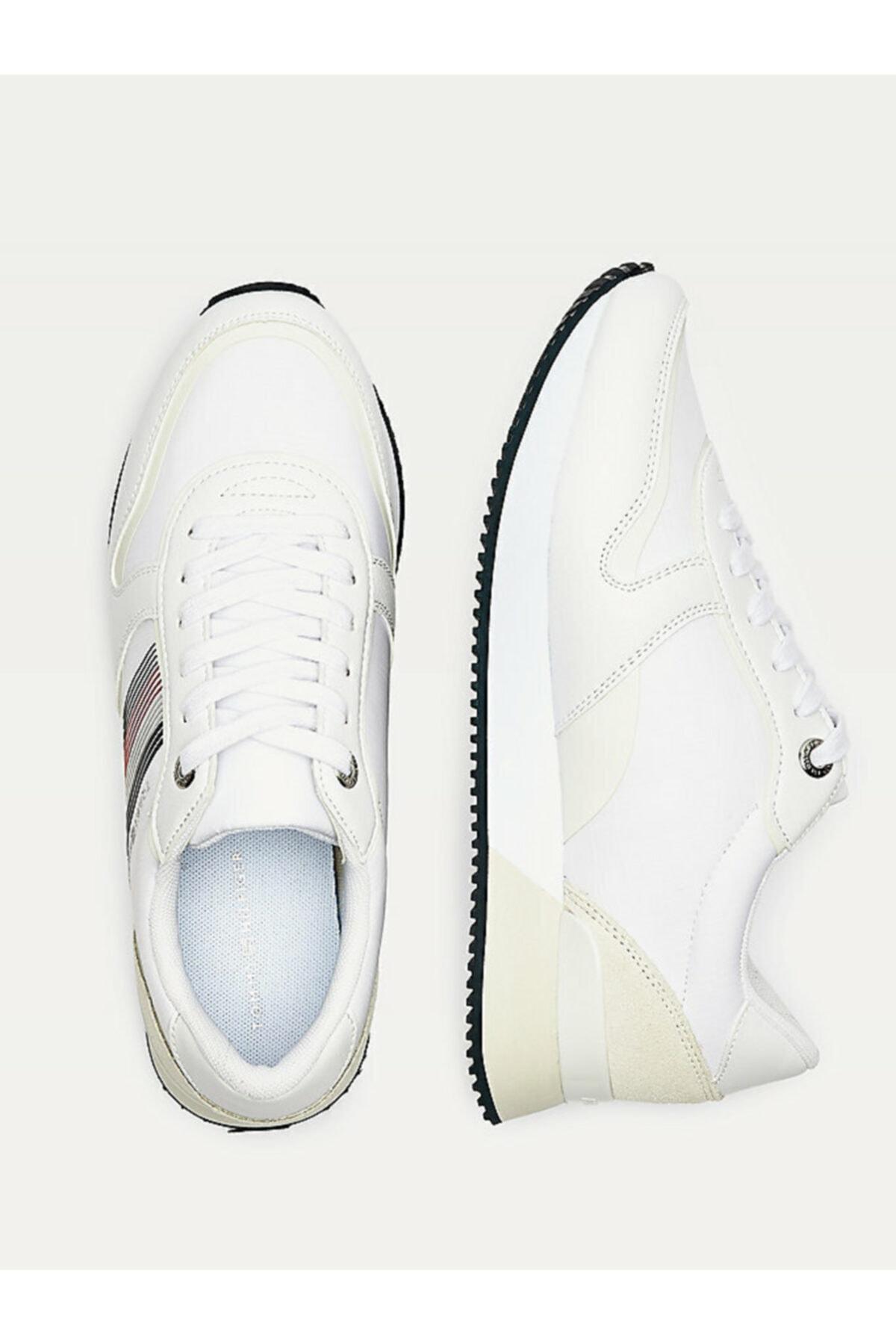 Tommy Hilfiger Kadın Beyaz Sneaker Actıve Cıty Sneaker FW0FW05011 2