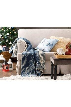 English Home Winter Tree Akrilik Tv Battaniye 130x170 Cm Lacivert
