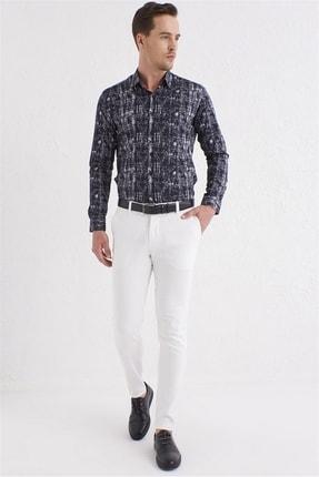 Efor P 1071 Slim Fit Beyaz Spor Pantolon