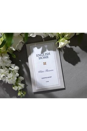 English Home Beyaz Çiçekler Kokulu Kese 19 Gr Bej