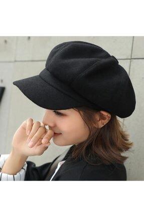 angel stayl Siyah Kadın Şapka
