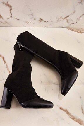 Bambi Siyah Kadın Çizme K05035855