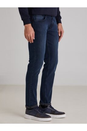 Dufy A.lacivert Düz Erkek Kot Pantolon - Slım Fıt