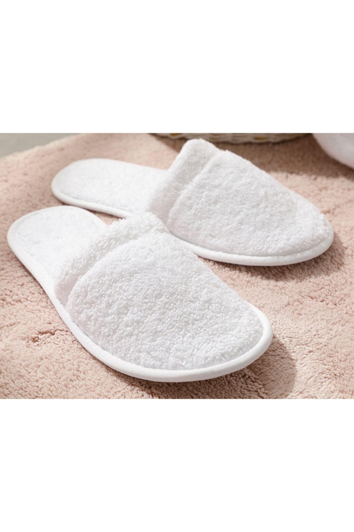 English Home Simple Pamuklu Kadın Banyo Terliği 36-40 Beyaz 2