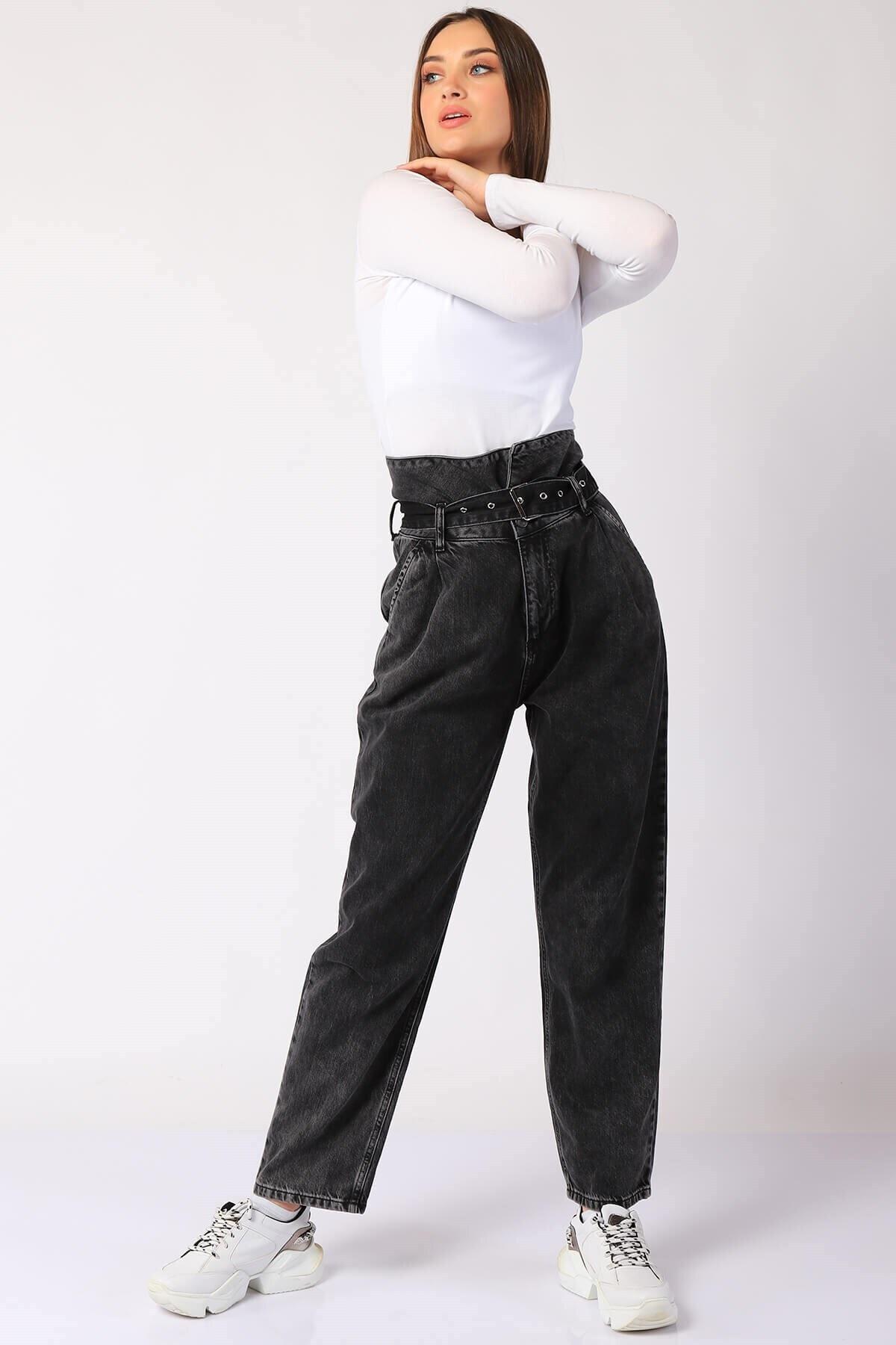 Twister Jeans Kadın Pantolon Bp 9377-02 Sıyah 1