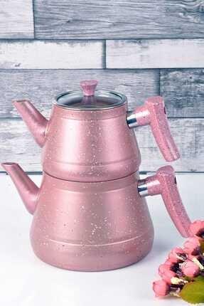 Bayev Granit Renkli Çaydanlık Takımı(Pembe)- 200459