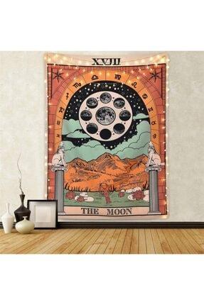 Trendiz The Moon Siyah Duvar Halısı W20015