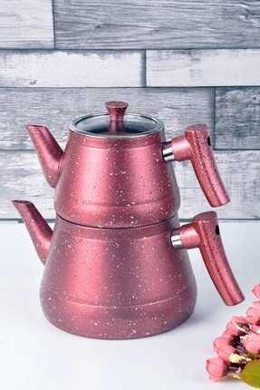 Bayev Granit Renkli Çaydanlık Takımı(Kırmızı)- 200459