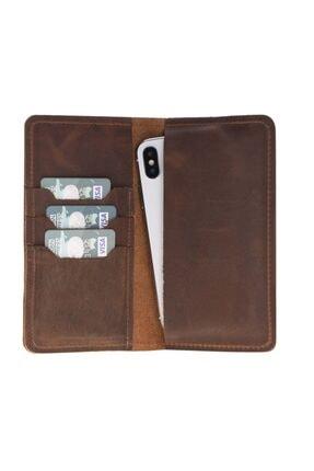 PLM Universal Deri Telefon Kılıfı Cüzdan Iphone 5/ip6/ip7/ip8 G2 Kahve