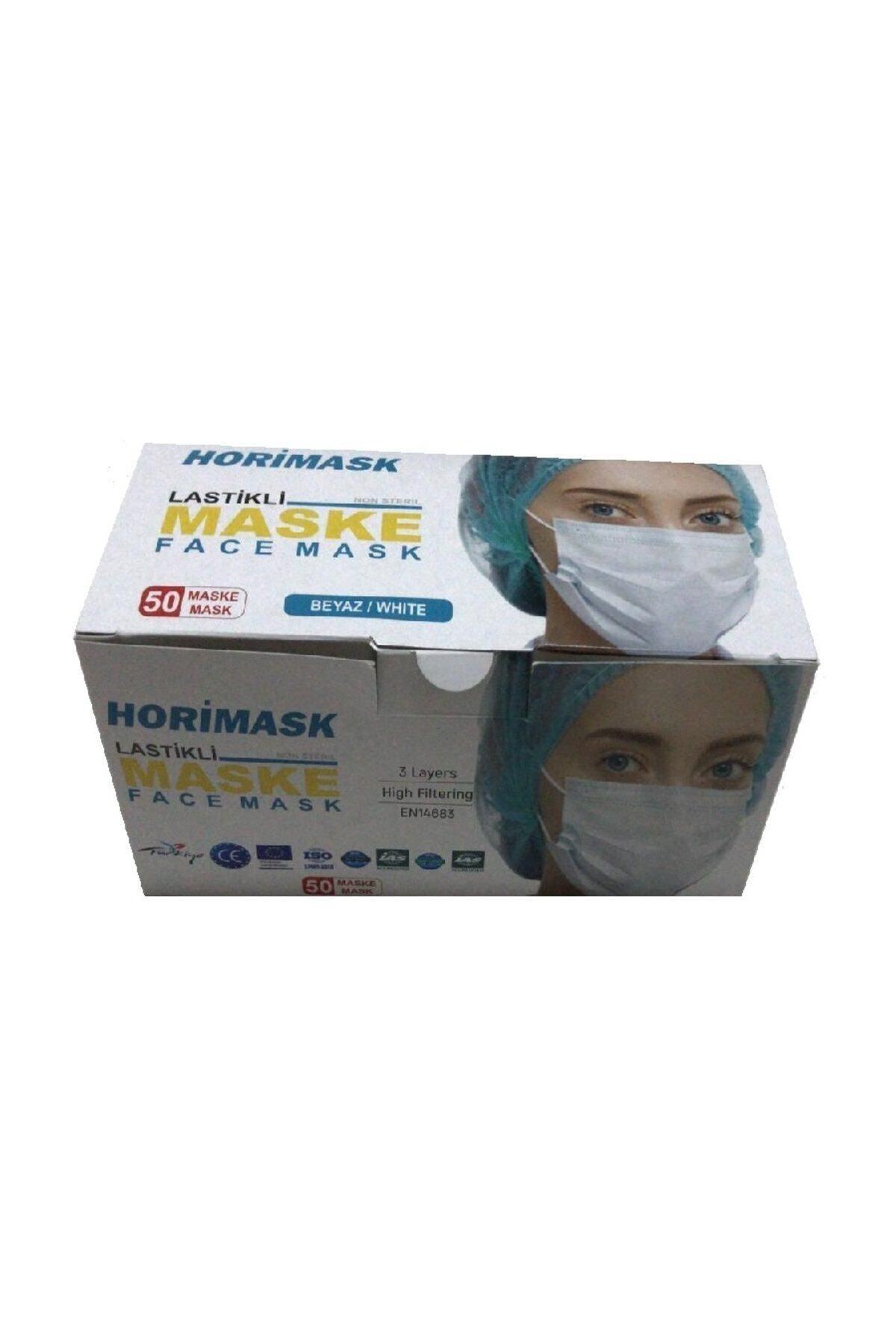 HORİMASK 3 Katlı-telli Cerrahi Maske- 50 Adet 1