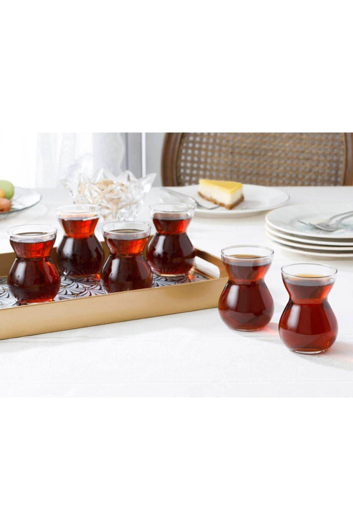 English Home Etnik Cam 6'lı Çay Bardağı 140 Ml Şeffaf 1