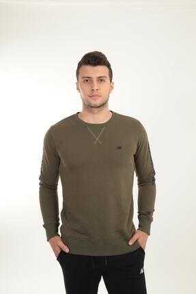 New Balance Erkek Haki Sweatshirt Mpc024-tpg