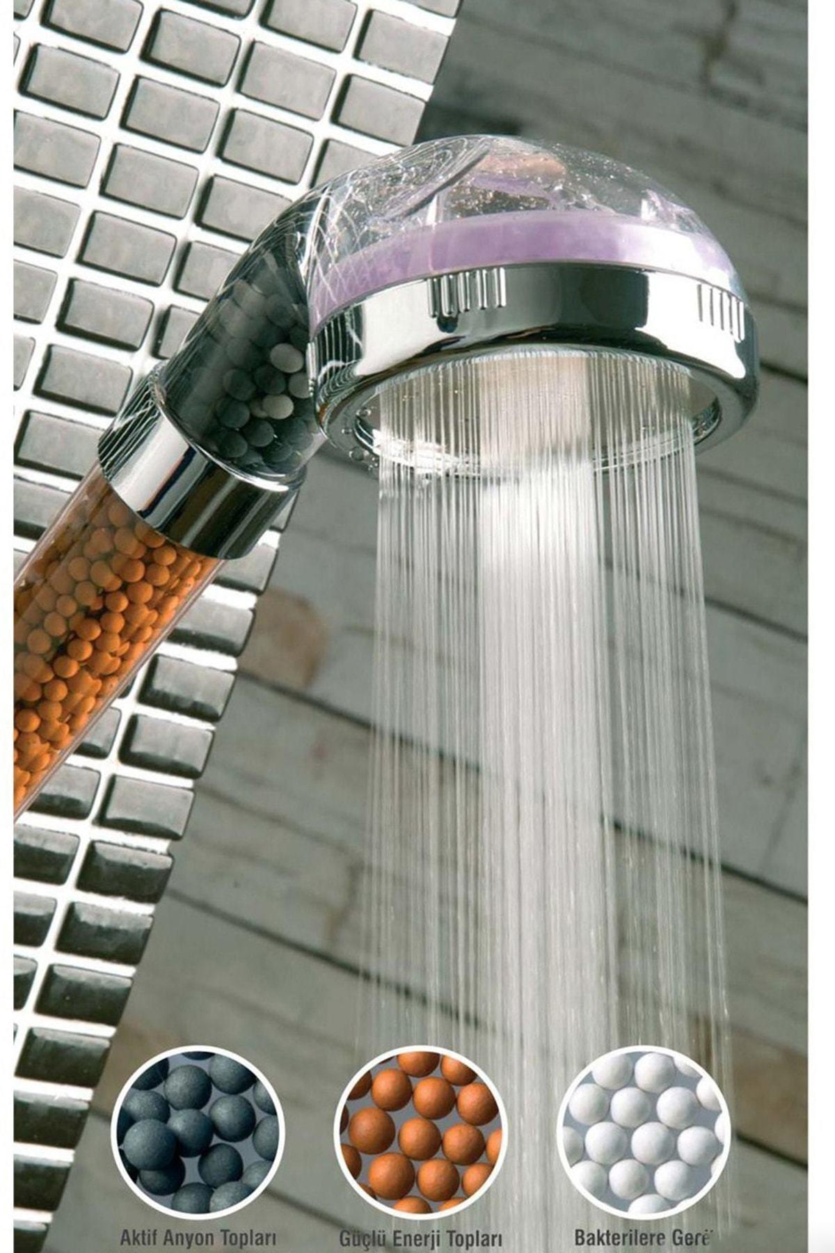 Buffer %50 Su Tasarruflu Ve Arıtmalı Doğal Taşlı Banyo El Duş Başlığı 2