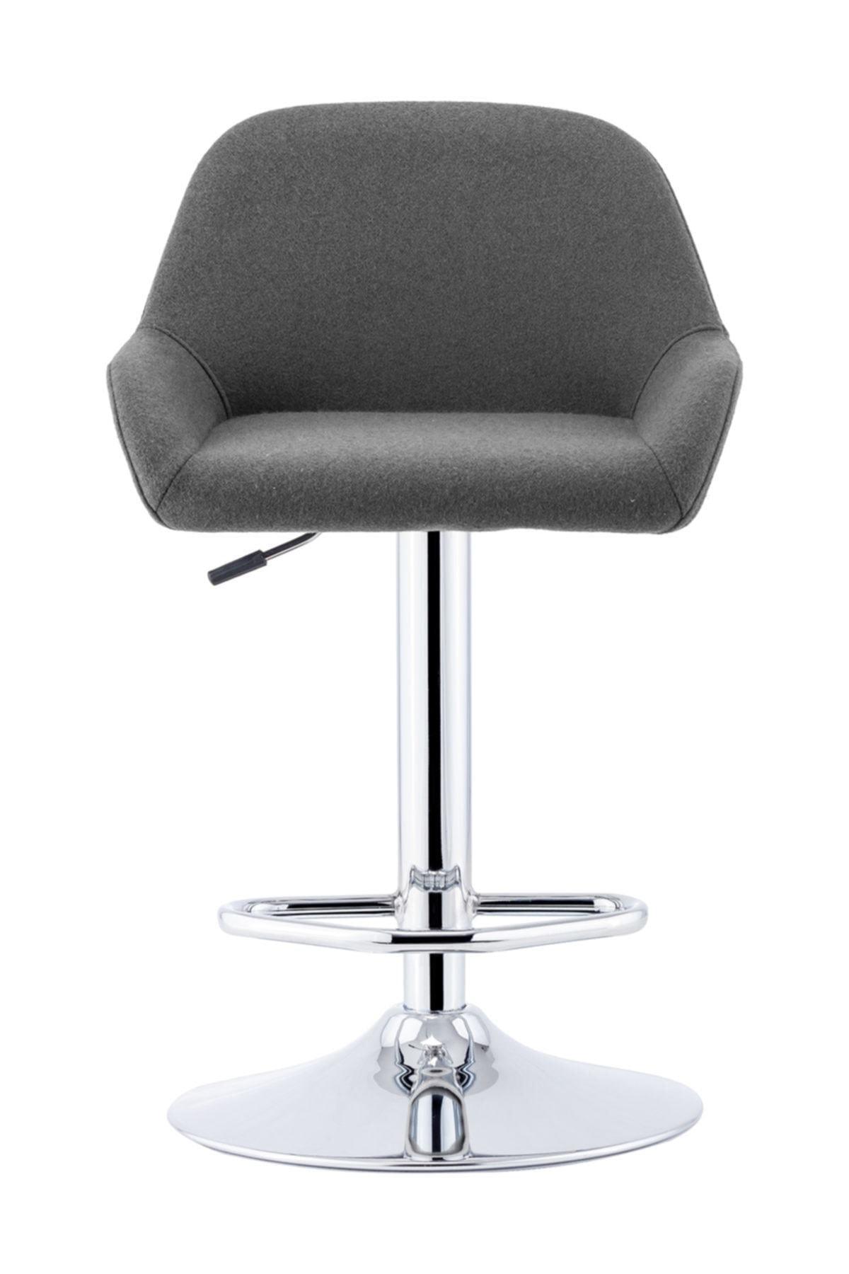 Sandalye Online Gri Firuze Bar Taburesi 2