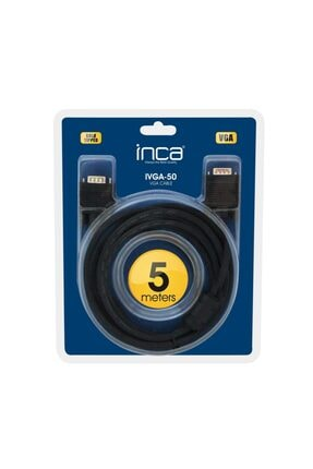 Inca Ivga-50 Vga 5mt Altın Uçlu Blister Vga Kablo