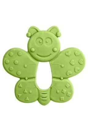 Bambino Kauçuk Yumuşak Diş Kaşıyıcı - Kelebek Figürlü Yeşil