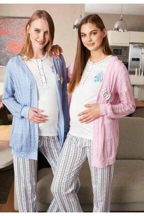 Feyza Pijama Feyza 2229 3'lü Lohusa Pijama Takımı