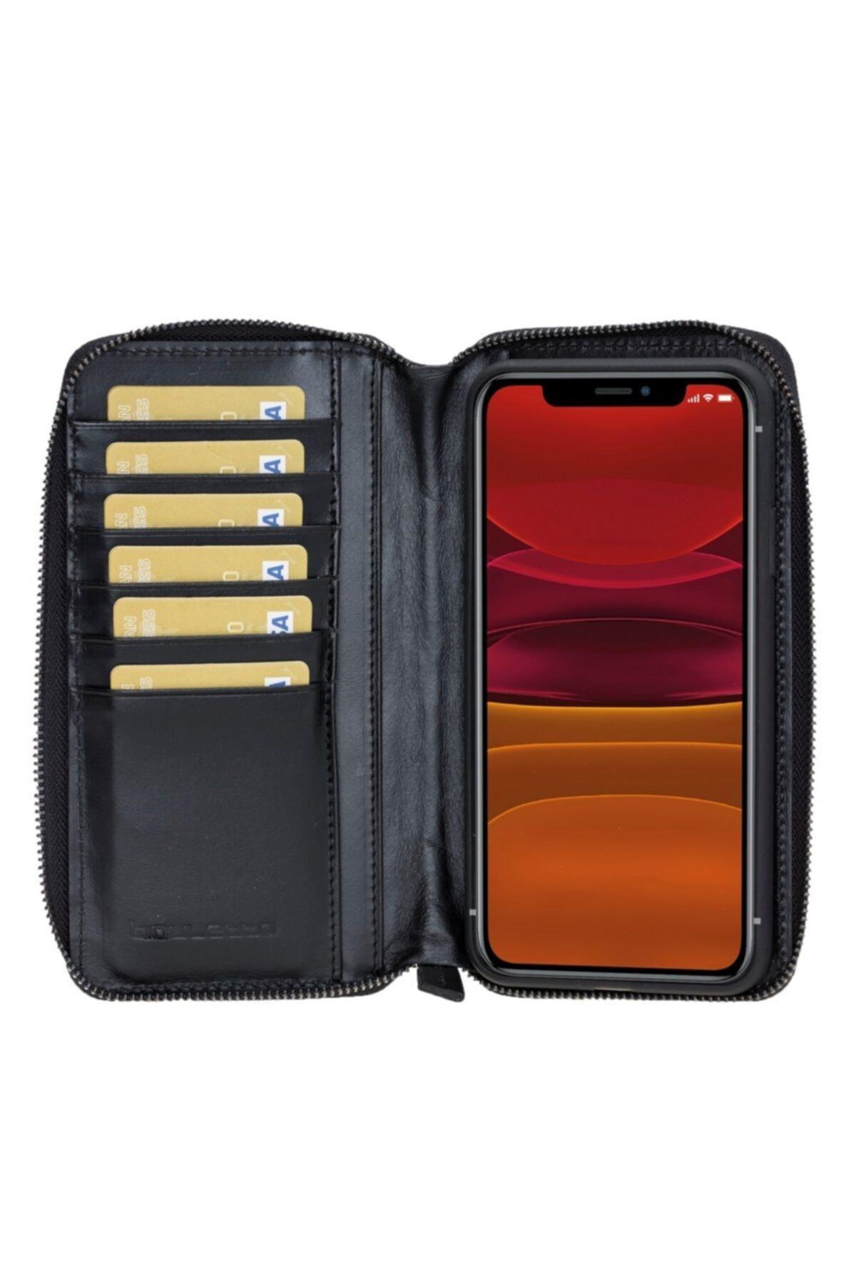 Bouletta Mw Pouch Deri Telefon Kılıfı Iphone 11 Promax Rst1 Siyah Rfıd 1
