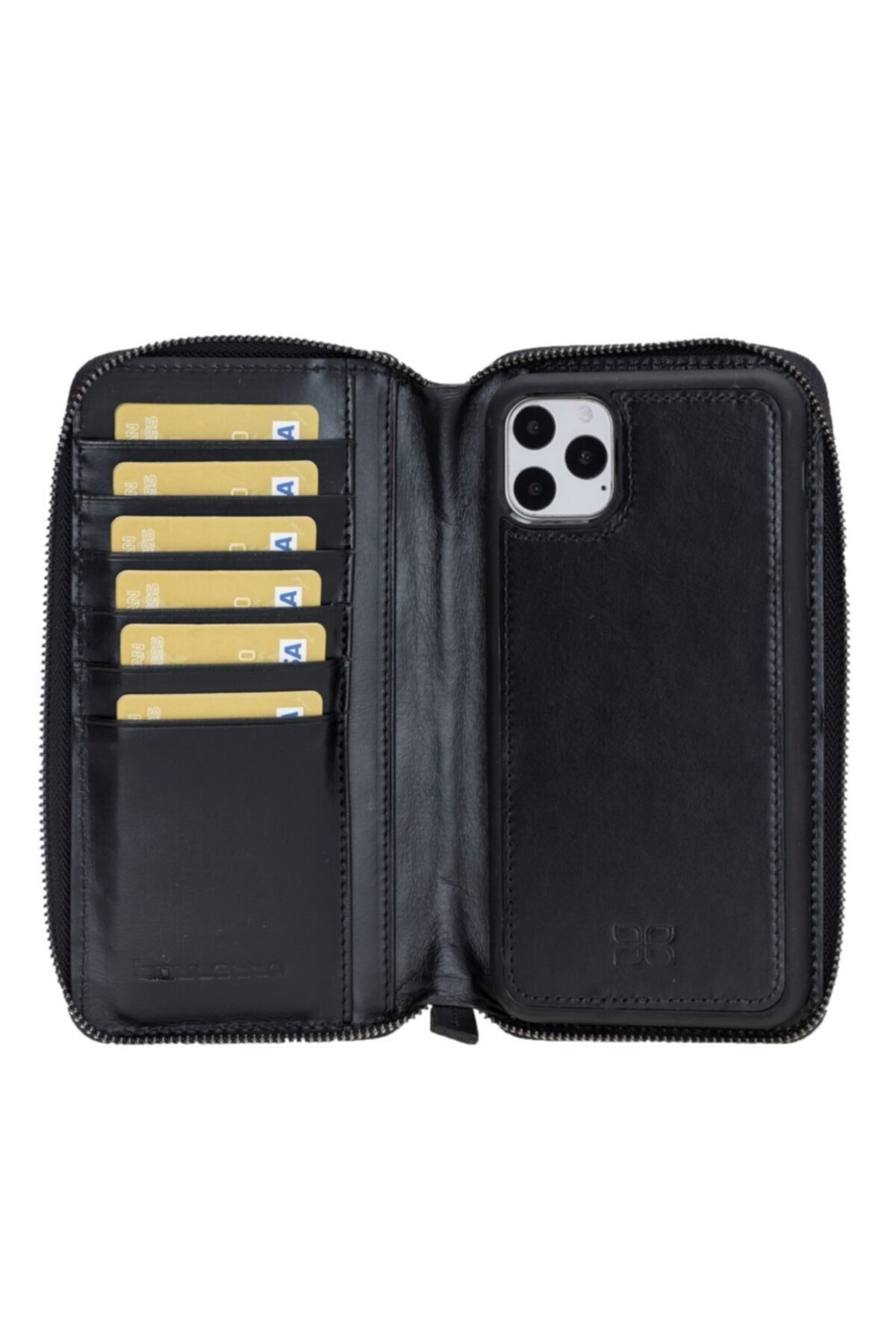 Bouletta Mw Pouch Deri Telefon Kılıfı Iphone 11 Promax Rst1 Siyah Rfıd 2