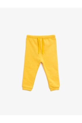 Koton Erkek Bebek Sarı Basic Beli Bağlamalı Pamuklu Eşofman Altı