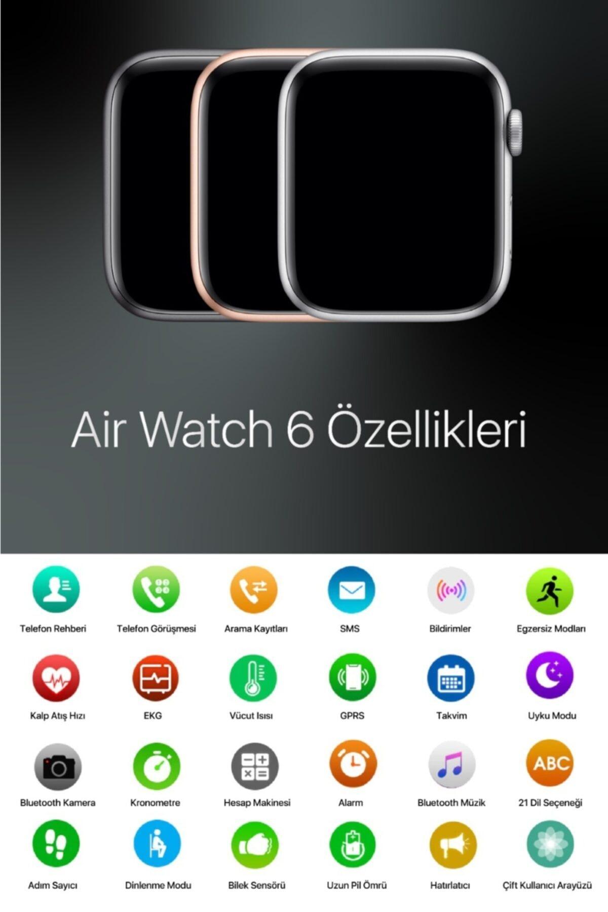 AirWatch Akıllı Saat Suya Dayanıklı Ateş Ve Nabız Ölçer Çok Fonksiyonlu Ios Ve Android Uyumlu 2