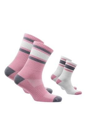 NORFOLK Pembe 2'li Paket Klasik Retro Çorap