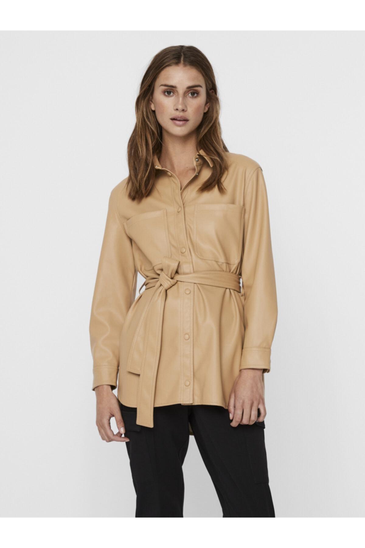 Vero Moda Belden Bağlamalı Kaplama Gömlek Ceket 10235687 Vmbutterdebbıe 1