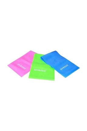 AVESSA Pilates Bant Seti 3 Farklı Direnç Seviyeli 150x15 Cm Bant