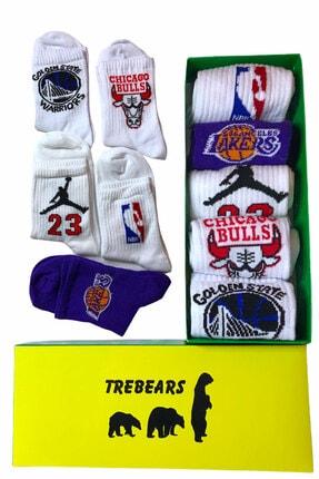 TreBears Soket Çorap Basketbol Serisi 5 Li Kutulu Set