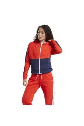 Reebok Ft0901 Te Linear Kadın Kırmızı Mavi Sweat