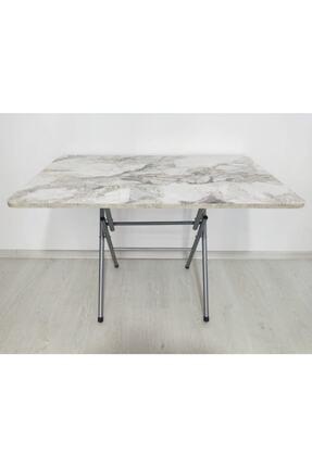 Ars Mrd Desıgn 70x110 Katlanabilir Efes Mermer Desenli Yemek Masası Mutfak Masası