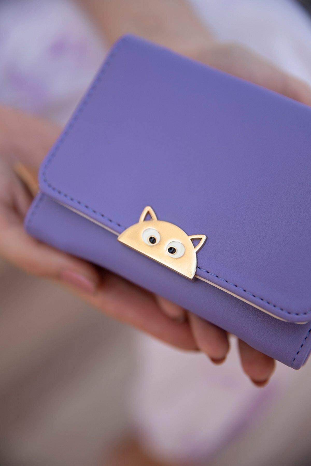 Shule Bags Kedi Aksesuarlı Cüzdan 1026 Lila 2