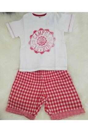 Wonder Kıds Erkek Çocuk Beyaz Kırmızı Wonderkids Bermuda Takım 130645