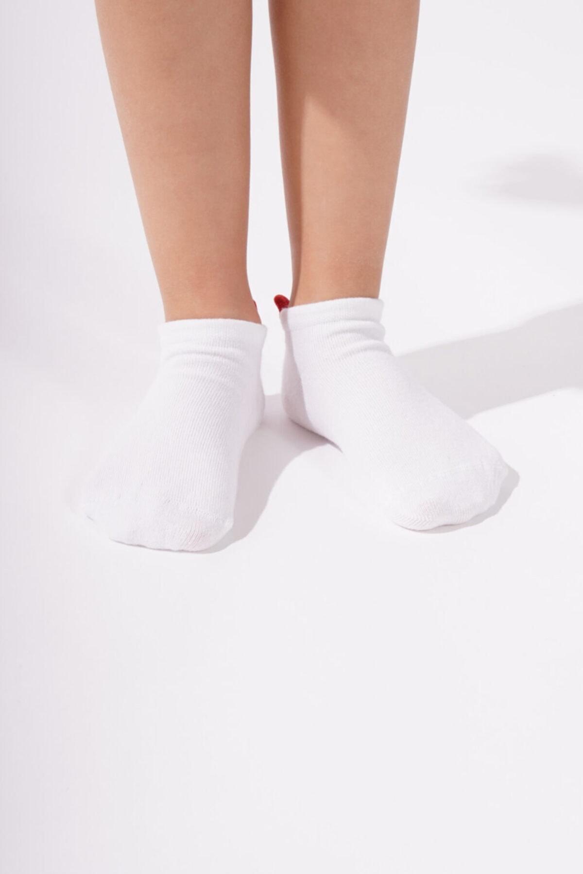 Katia&Bony Back Heart Çocuk Patik Çorap - Beyaz 2