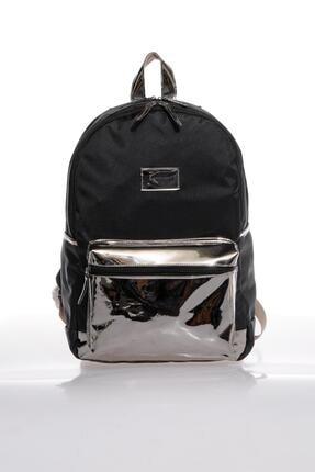 KAUKKO K1101 Siyah Kadın Sırt Çantası