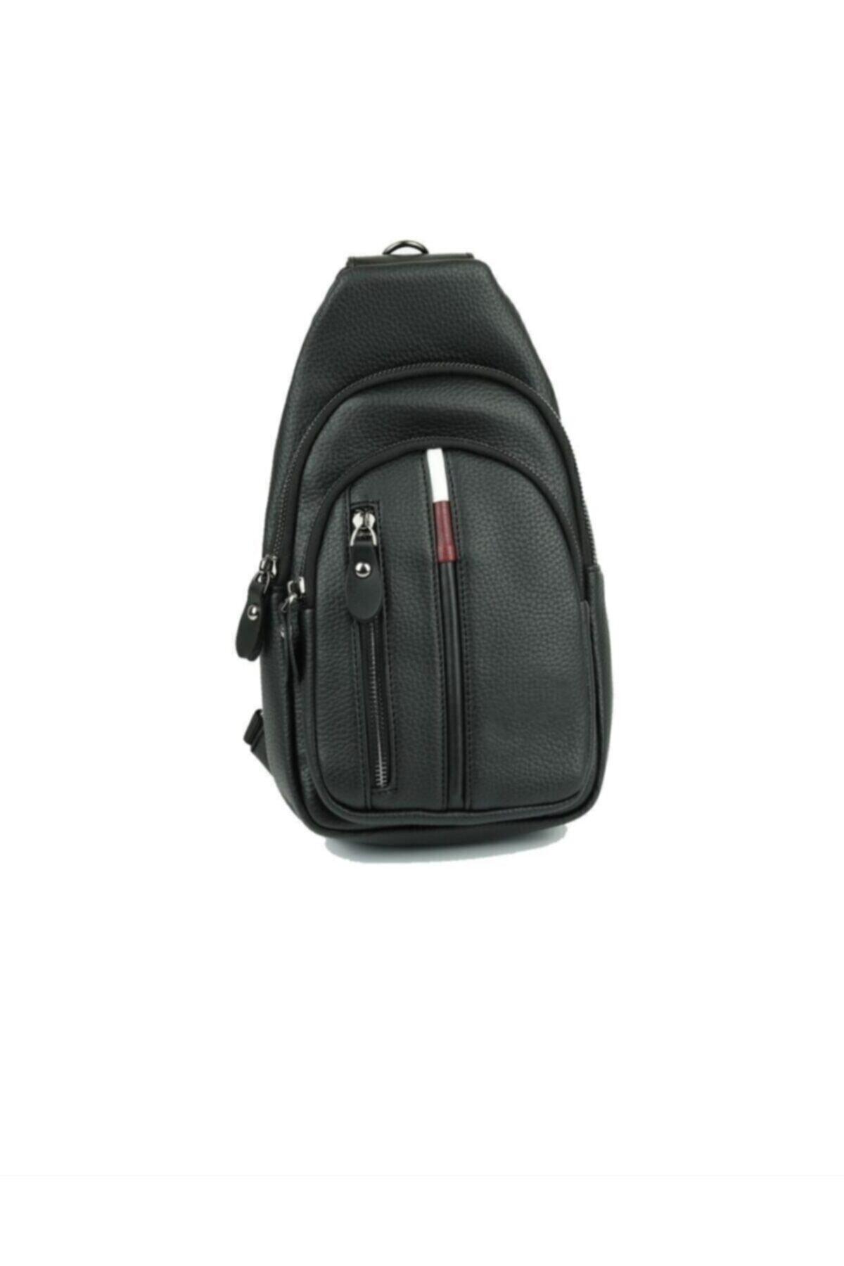 Newish Polo Unisex Siyah Çapraz Göğüs Ve Omuz Çantası Body Bag 2