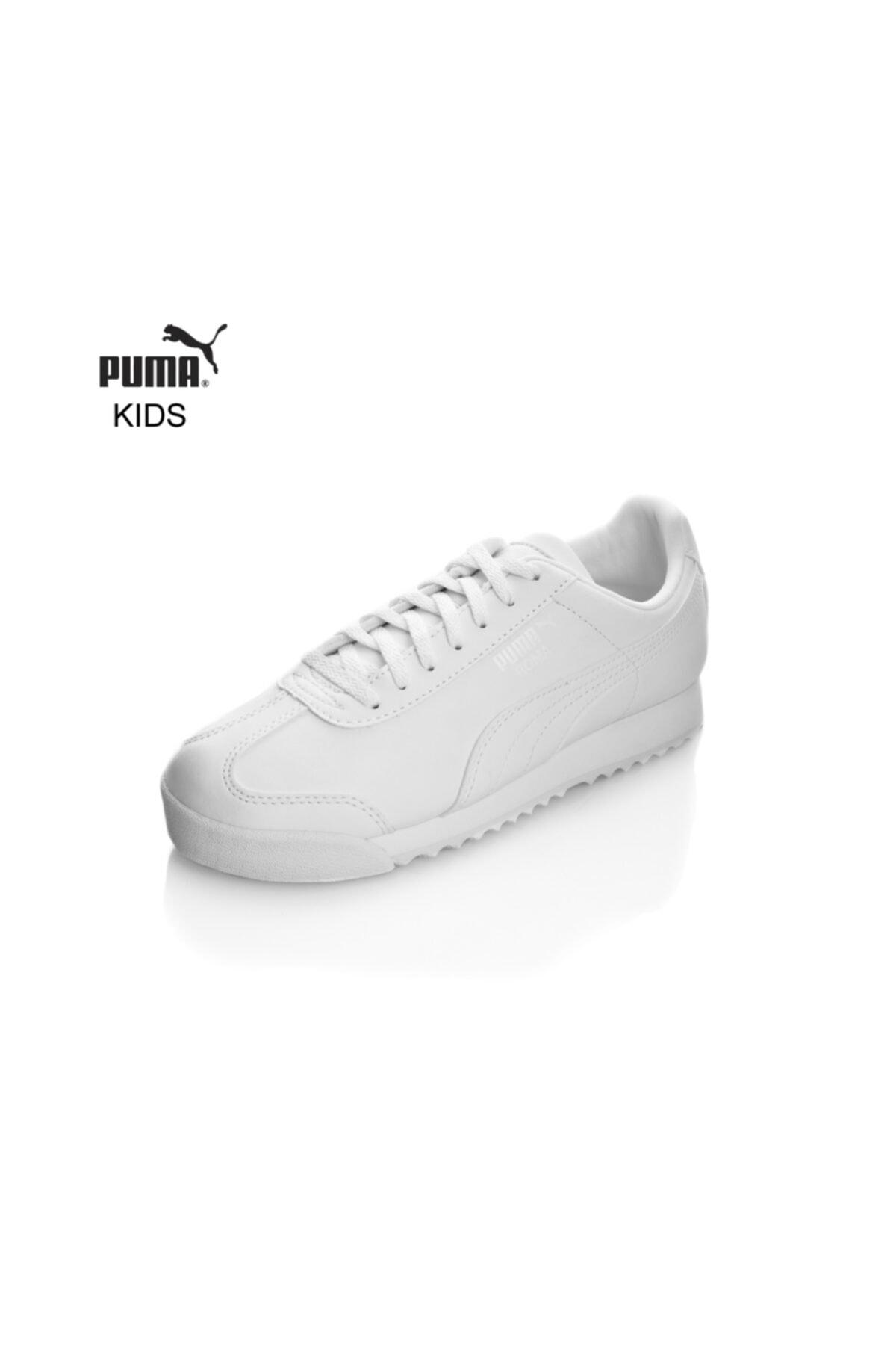 Puma Beyaz Erkek Spor Ayakkabı 354259141 Roma Basıc Jr Whıte-lıght Gray 1