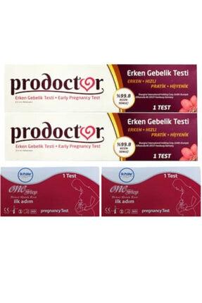 Prodoctor Early Erken Gebelik Testi X 2 Adet + Hızlı Gebelik Testi Kaset Test X 2 Adet