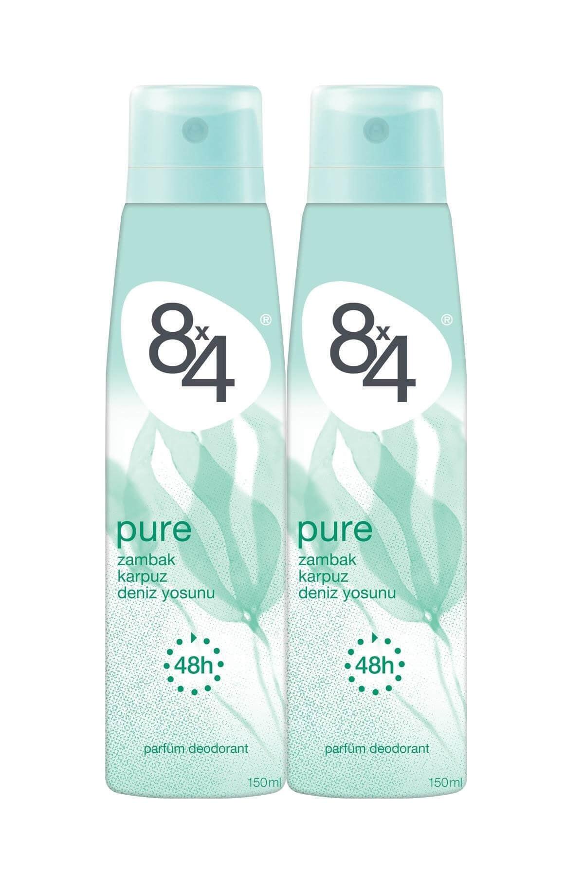 8x4 Pure Deo Sprey Kadın 150 ml 2 Adet 1
