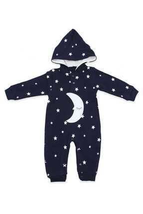Murat Baby Uykucu Aydedeli Yıldızlı Lacivert Bebek Tulumu K2910