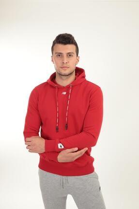 New Balance Erkek Kırmızı Kapüşonlu Sweatshirt Mph023-chr