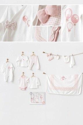 andywawa Pink Balloons 10'lu Kız Bebek Hastane Çıkış Seti Ac20701