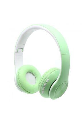 BLUPPLE Bluetooth Wireless Mikrofonlu Kablosuz Stereo Kulak Üstü Kulaklık Yeşil Genç Çocuk