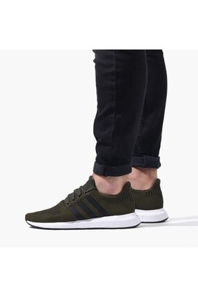 adidas Unisex Koyu Yeşil Swift Run Cg6167 Green Sneaker
