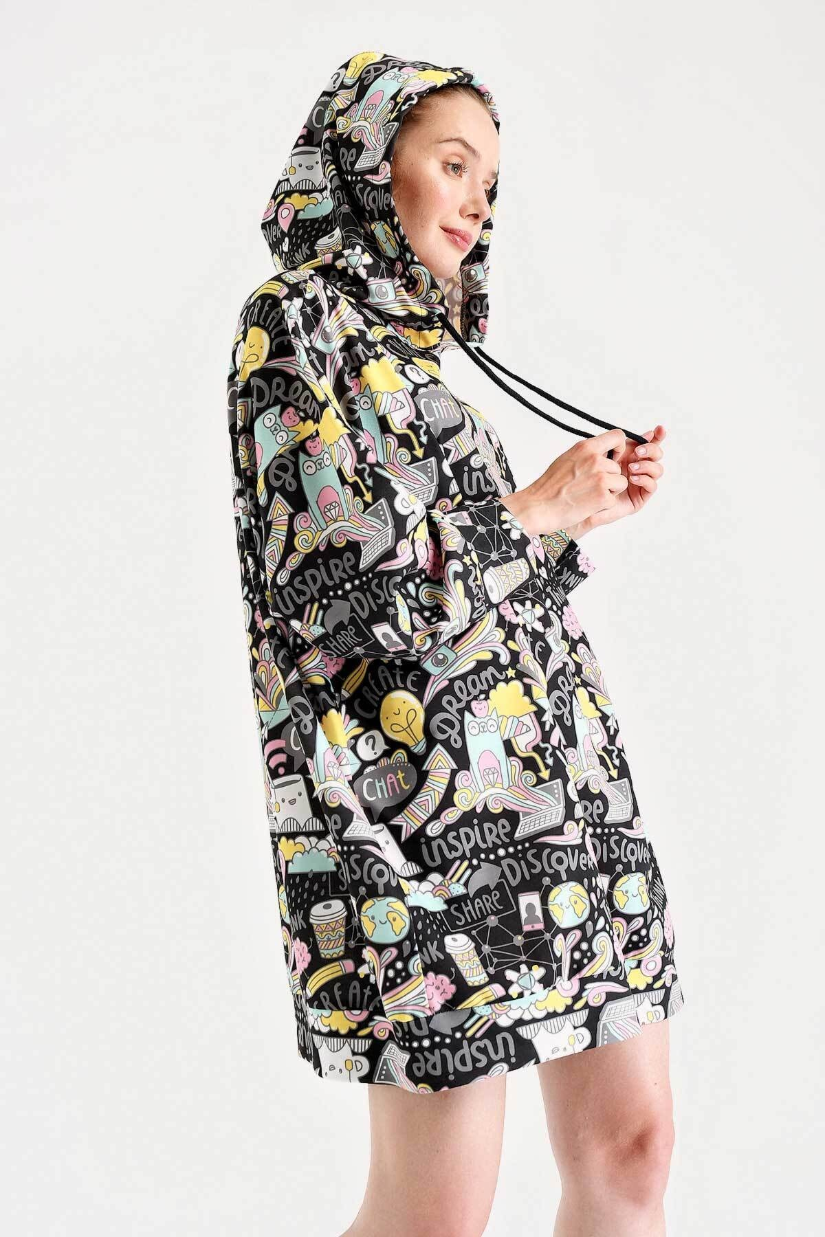 Bigdart 4125 Oversize Sweat Elbise 1