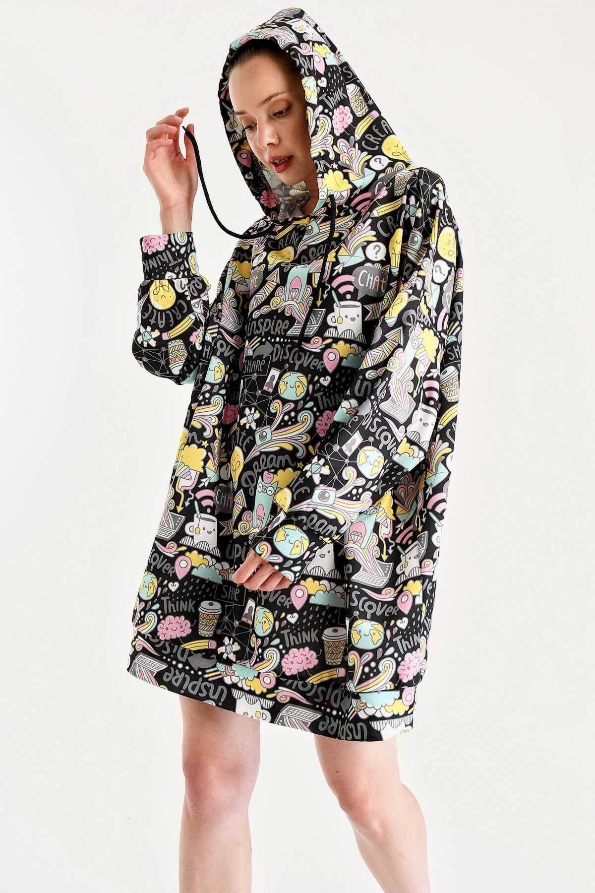 Bigdart 4125 Oversize Sweat Elbise 2