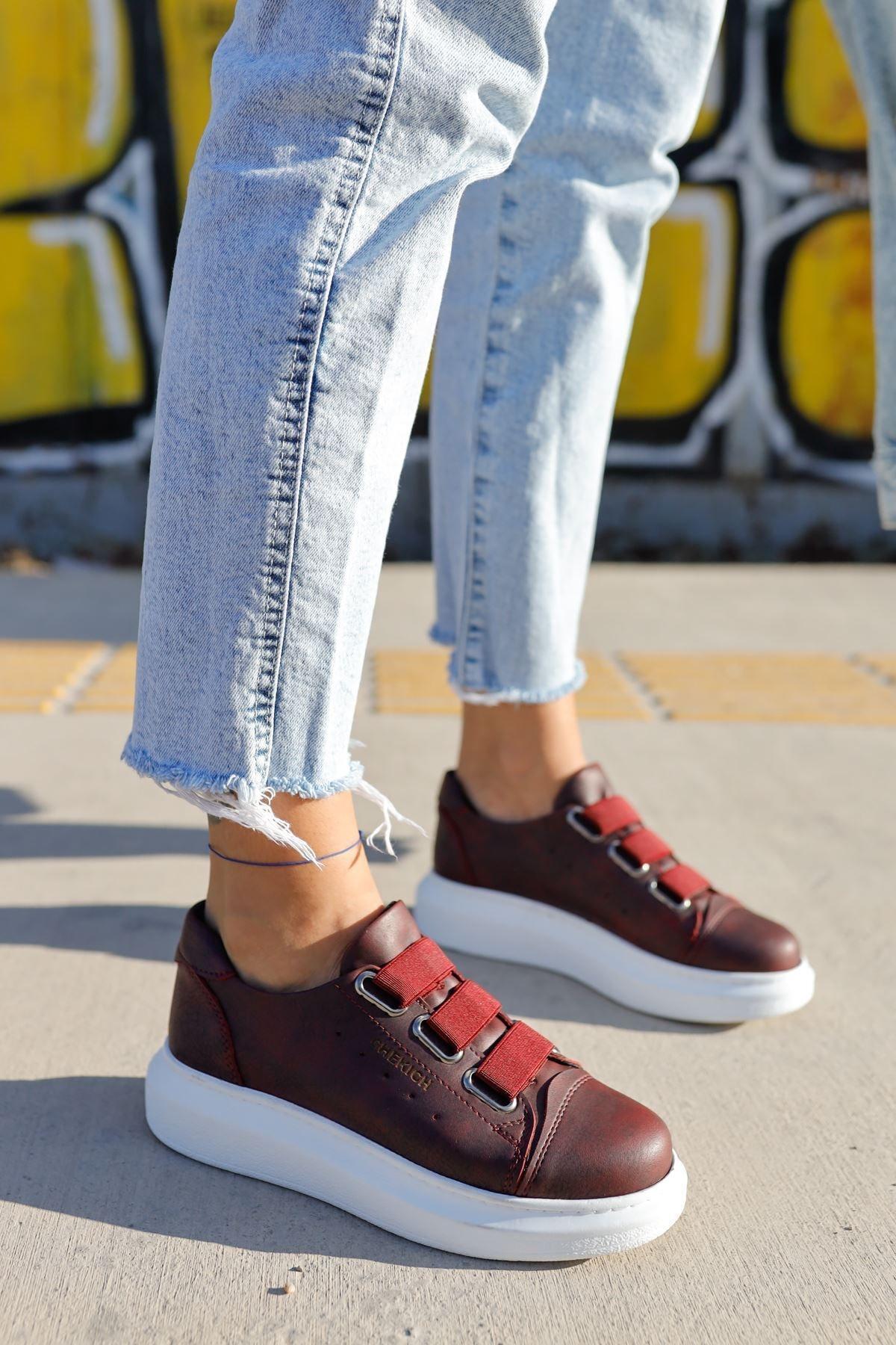 Chekich Ch253 Bt Kadın Ayakkabı Bordo 1
